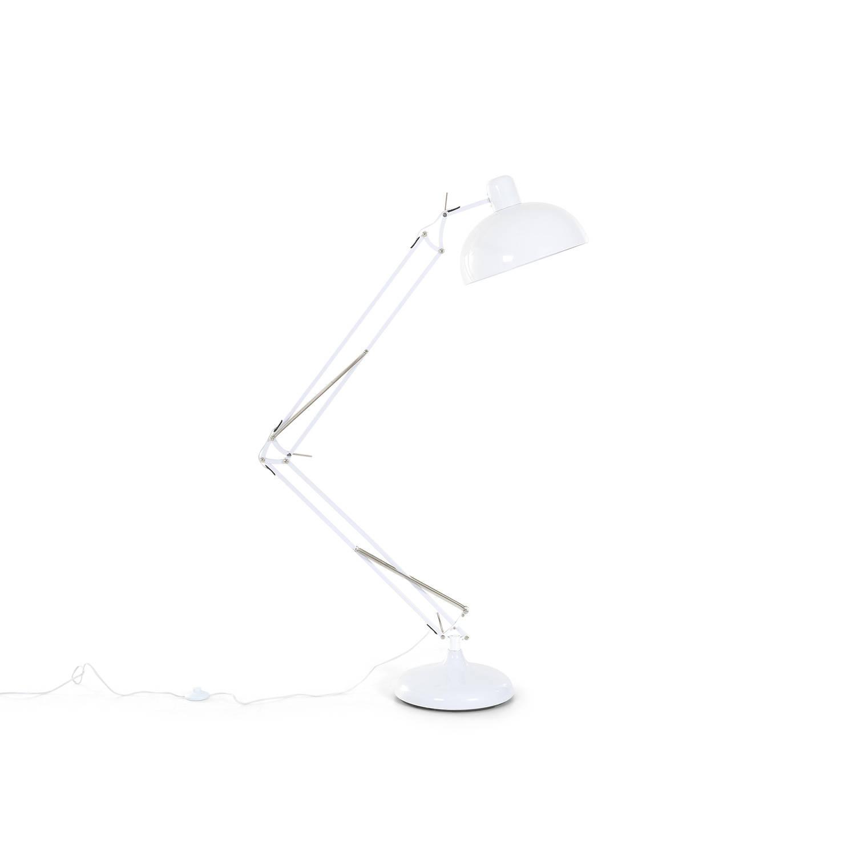Beliani Parana Staande lamp Wit Metaal Maxi