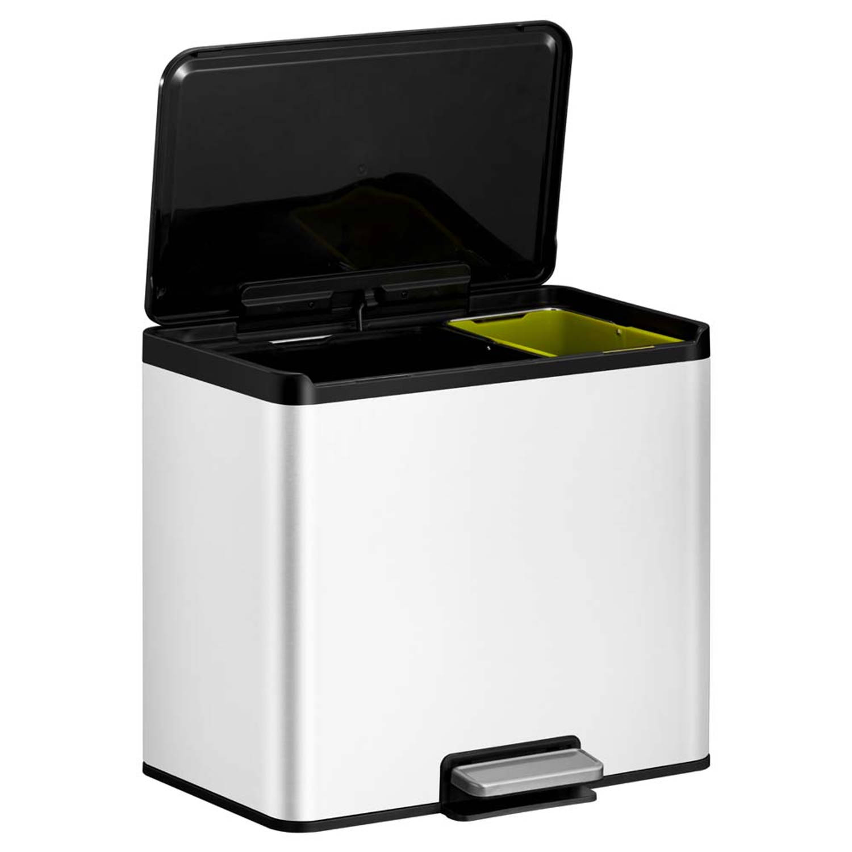 Korting Eko Essential Recycler Pedaalemmer Afvalscheider 20 plus 9l Wit