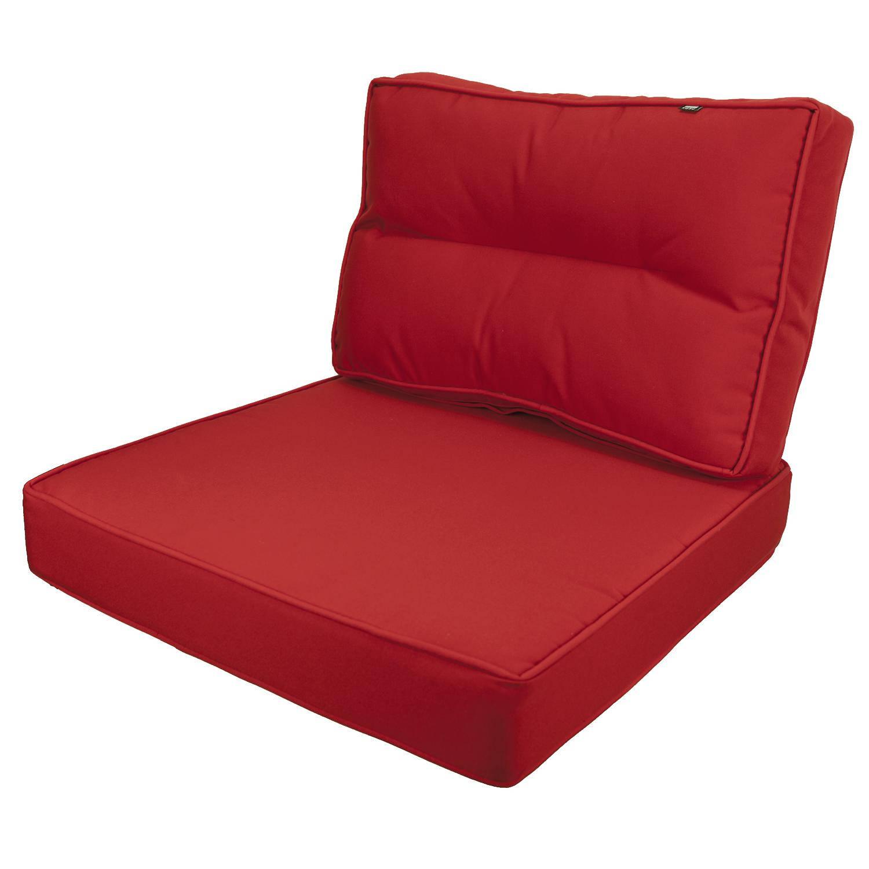 Kopu - Prisma Loungekussenset Zit en Rug 60 cm - Red