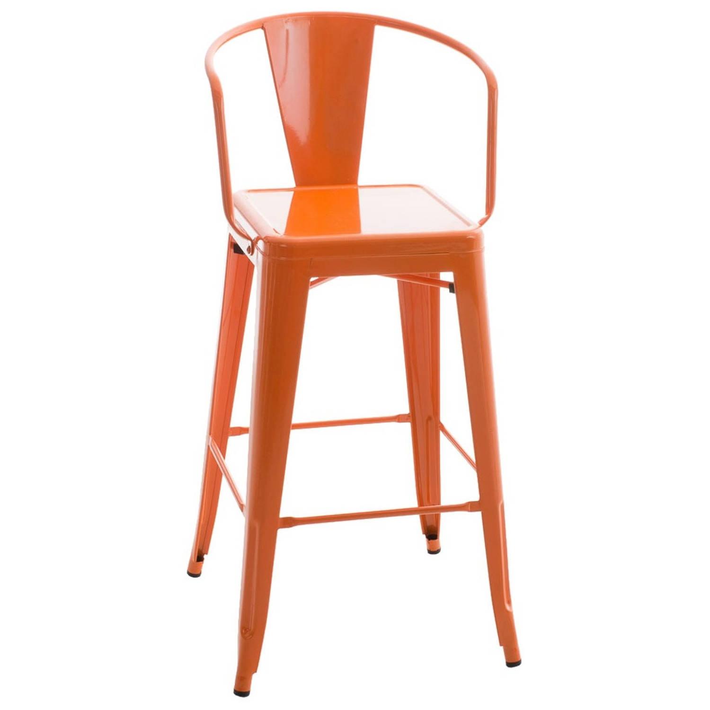 Afbeelding van 24Designs Barkruk Jackson - Zithoogte 77 Cm - Metaal - Oranje