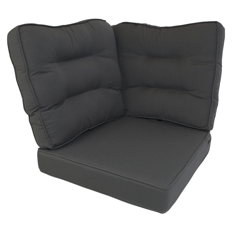 Kopu® Prisma Loungekussen 3 delige Hoek set 60 x 60 cm Grey