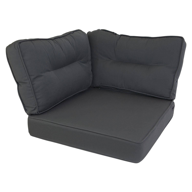 Kopu® Prisma Loungekussen 3 delige Hoek Set 60 x 40 cm Grey