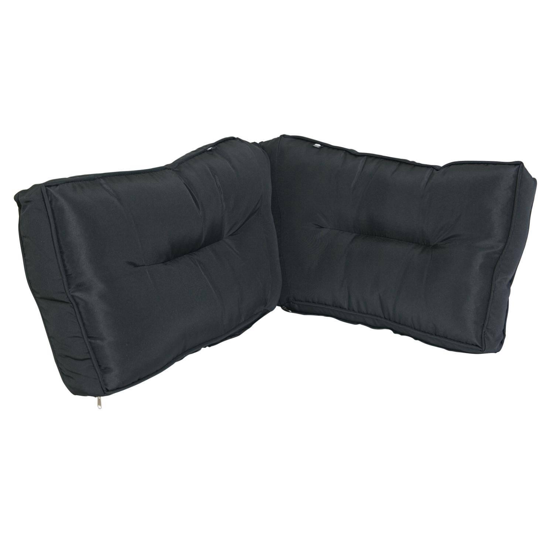 Kopu - Geo Lounge Hoek rugkussen set 60 x 40 cm - Black