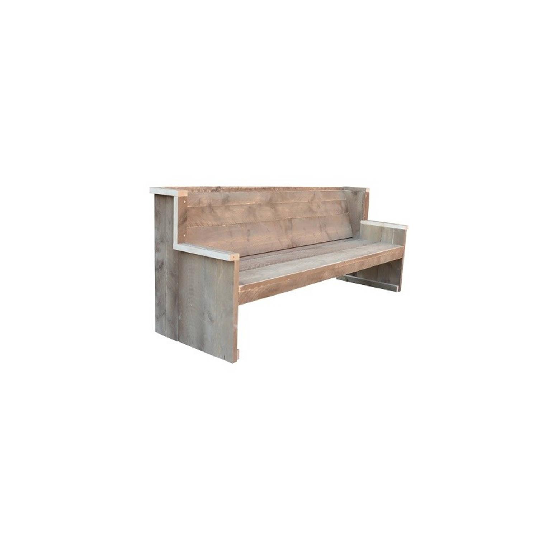 Wood4you - Tuinbank Zeeland - 'Doe Het Zelf Pakket' Steigerhout - 180lx72hx63d Cm