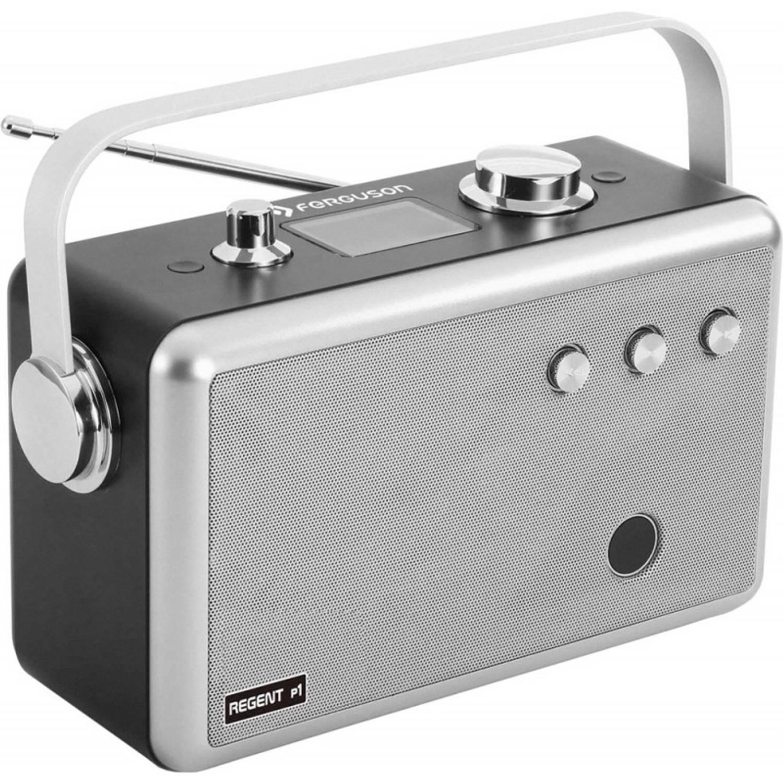 Ferguson Regent P1 - Portable Radio - DAB+, FM, BT, USB, AUX - Zilver