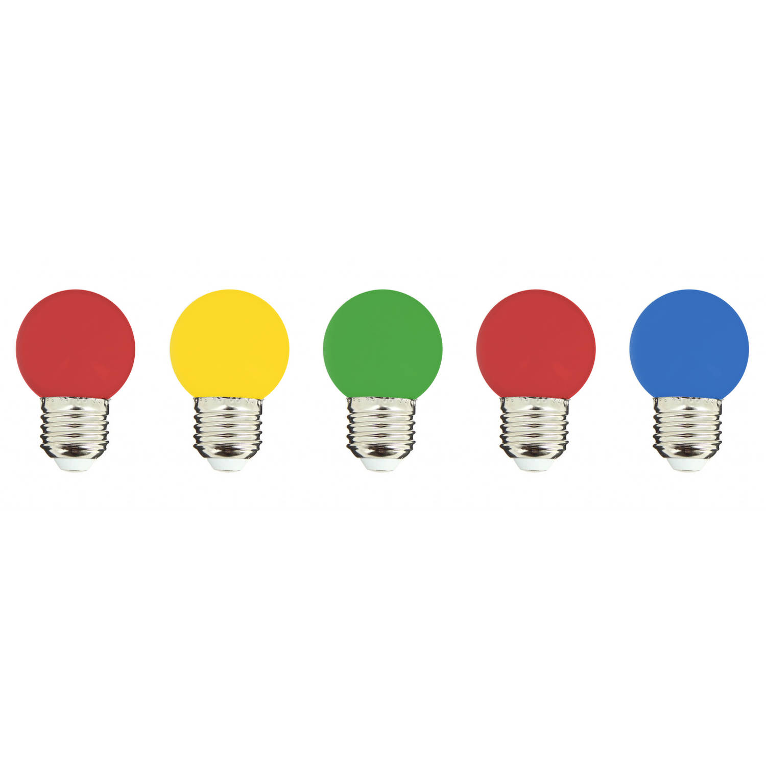 Lumisky party multicolor led-lampen 5-pack