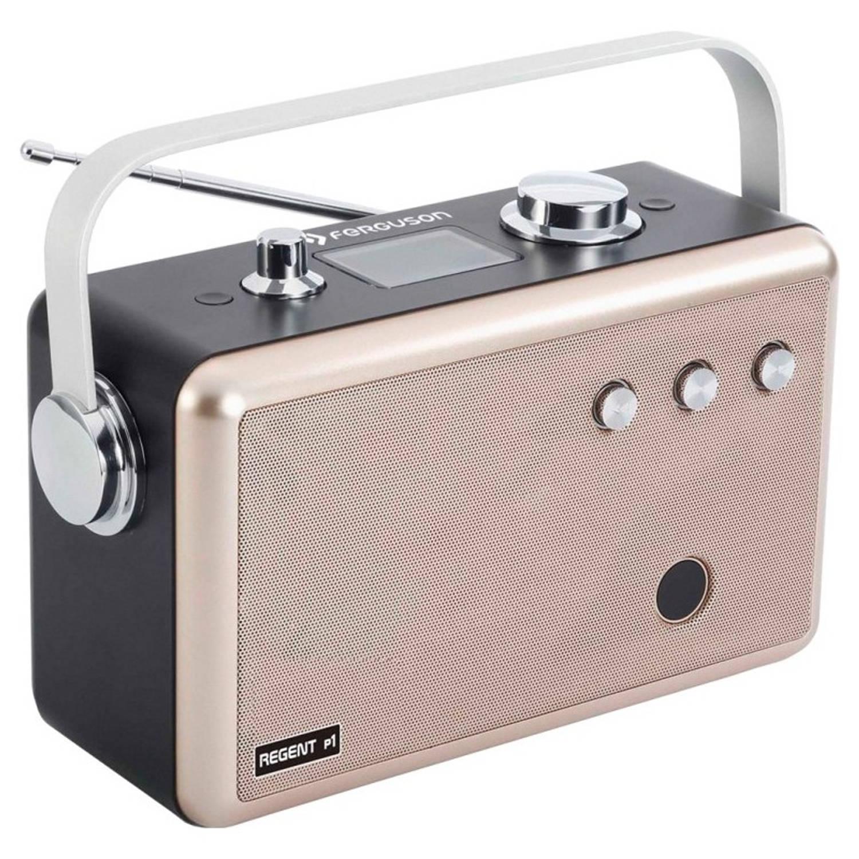 Ferguson Regent P1 - Portable Radio - DAB+, FM, BT, USB, AUX - Goudkleur