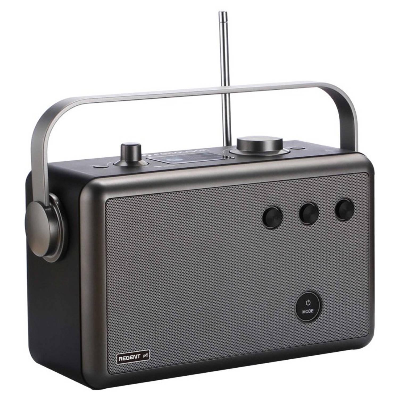 Ferguson Regent P1 - Portable Radio - DAB+, FM, BT, USB, AUX - Grijs