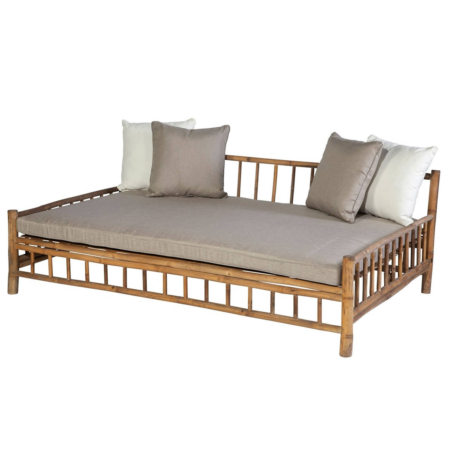 Persoon Exotan Bamboe lounge daybed bamboo natural finish
