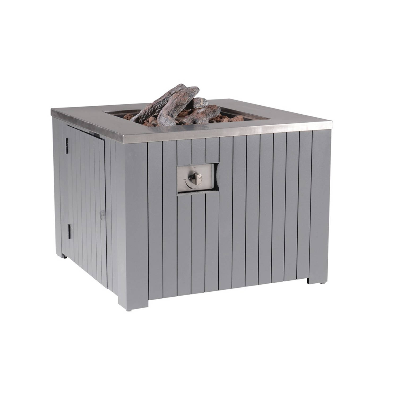 Garden Impressions Cozy living gas vuurtafel Faro 80x80 cm - Arctic Grey