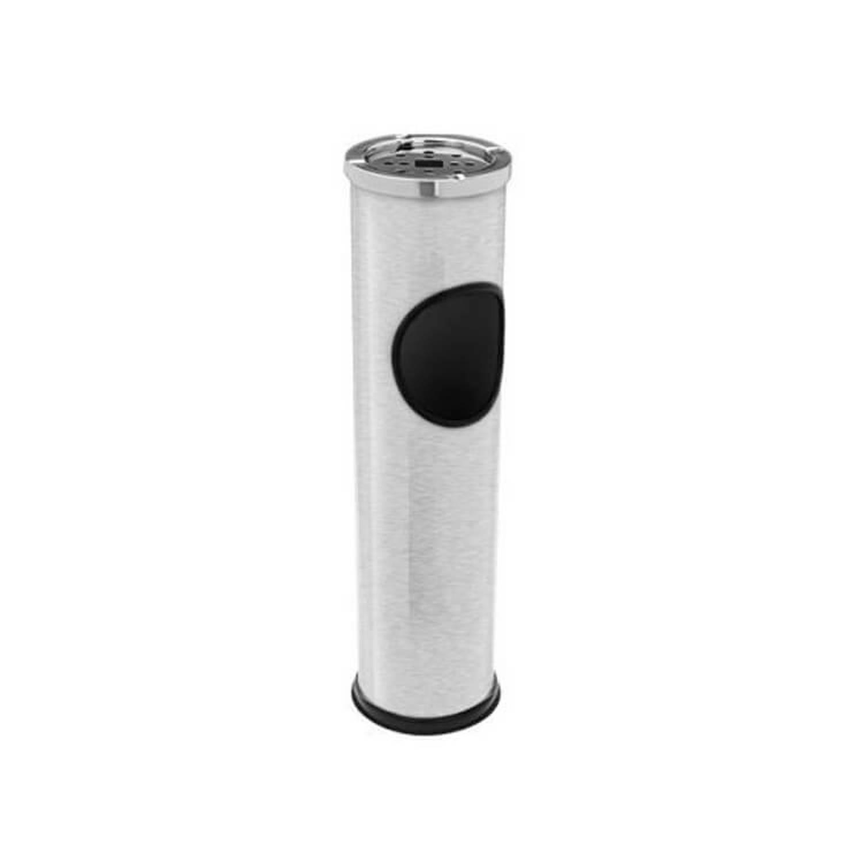 Rvs Afvalbak Met Asbak - Ideaal Voor Feestjes - 5 Liter- Binnen En Buiten