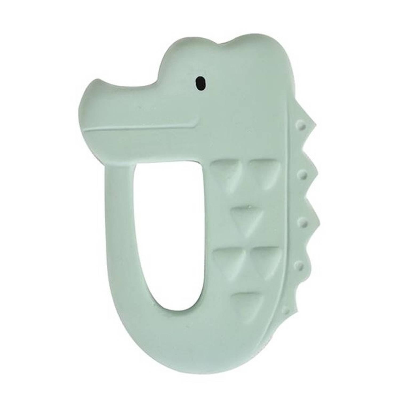 Tikiri bijtring krokodil mintgroen 10,5 cm