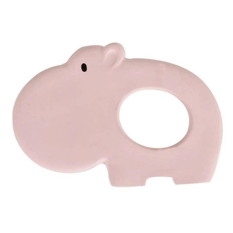 Tikiri bijtring nijlpaard roze 10,5 cm