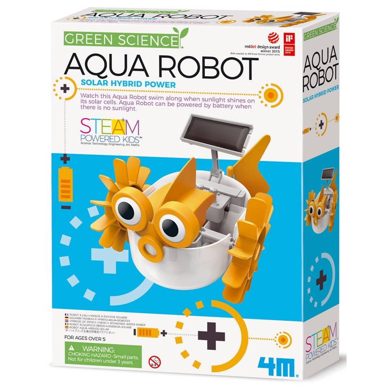 Afbeelding van 4M KidzLabs aqua robot geel/wit 28 cm