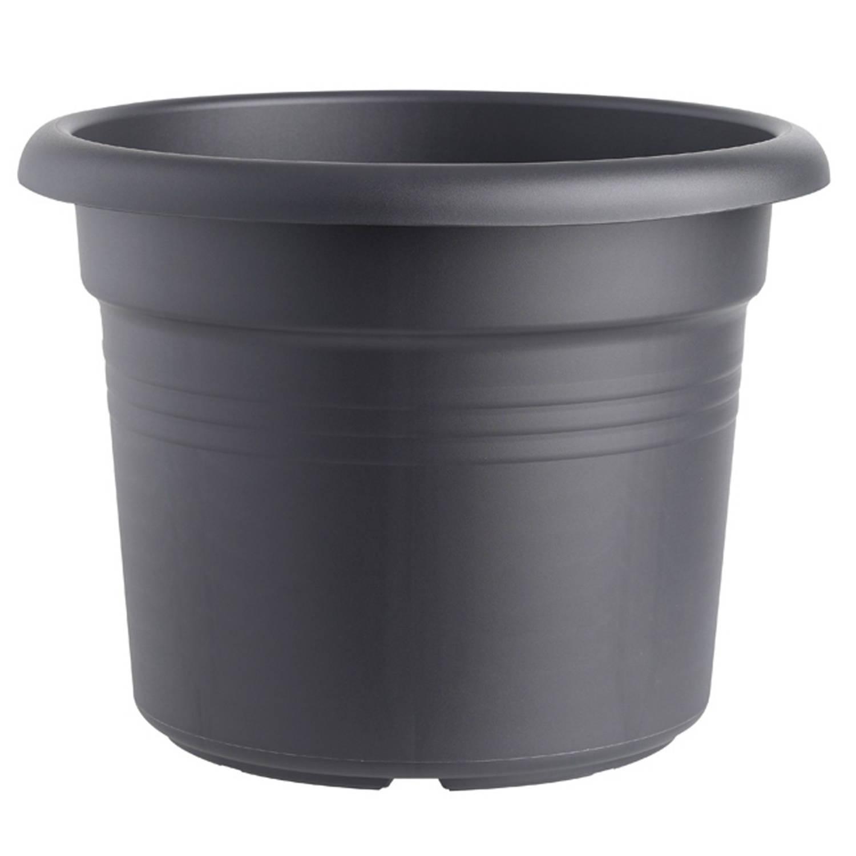 2 Stuks Bloempot Green Basics Cilinder 30 Cm Living Black Elho
