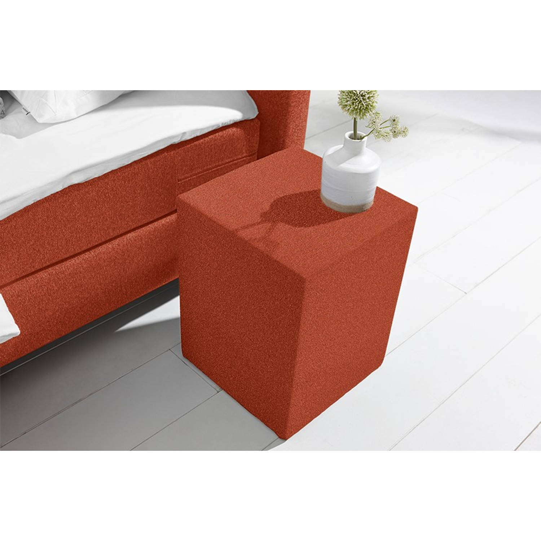 Beter Bed Basic hocker Ambra/Cisano/Salerno - Polyester - Roest