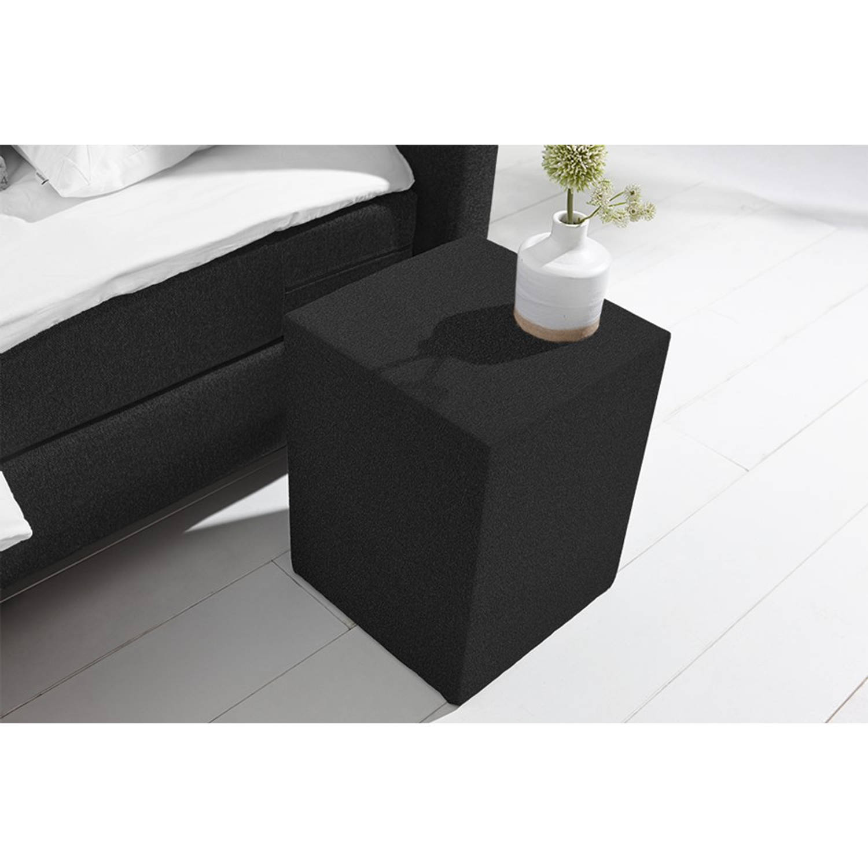 Beter Bed Basic hocker Ambra/Cisano/Salerno - Polyester - Anouk zwart