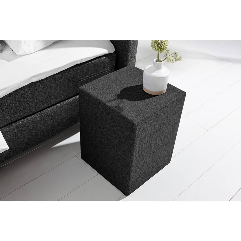 Beter Bed Basic hocker Ambra/Cisano/Salerno - Polyester - Coozy zwart