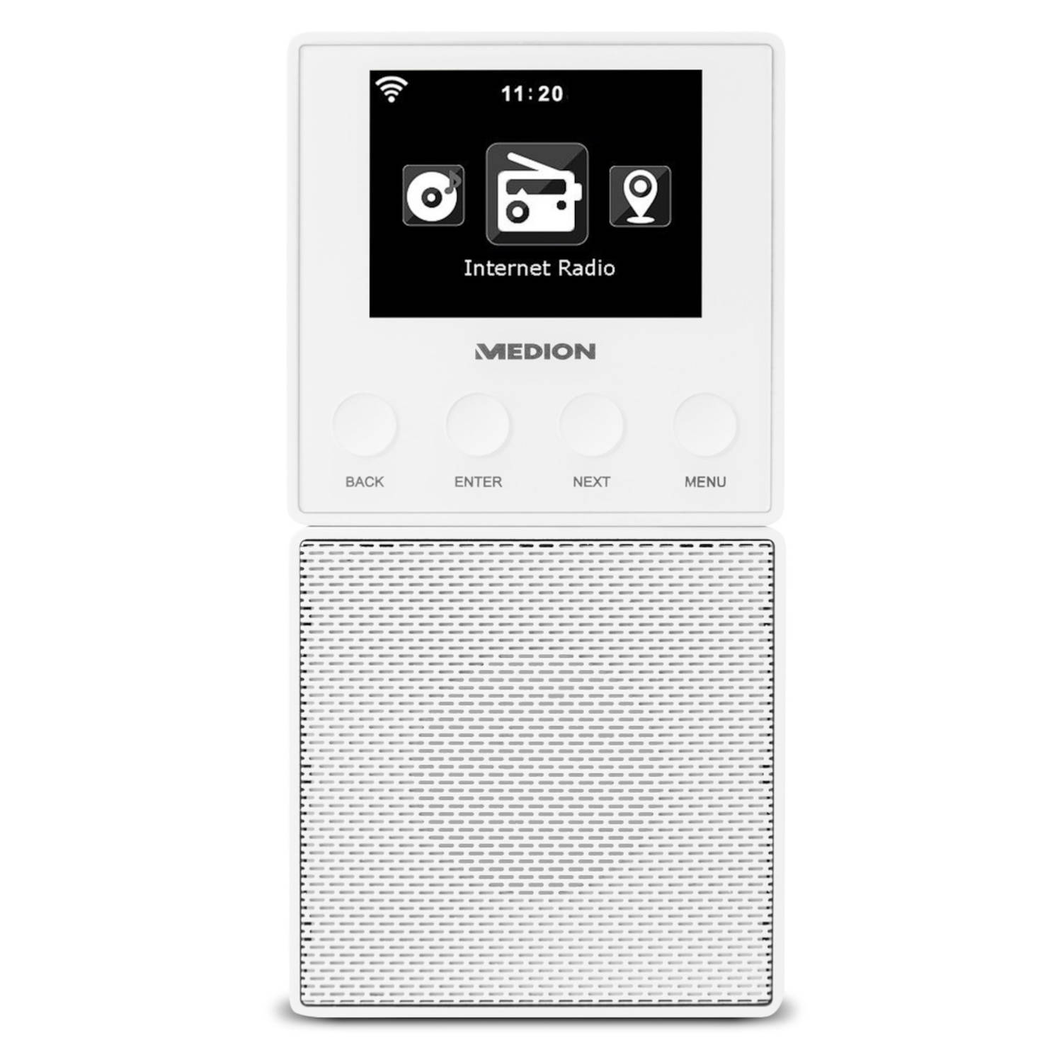MEDION® LIFE E85032 Stekker Internet Radio & Bluetooth Speaker (wit)