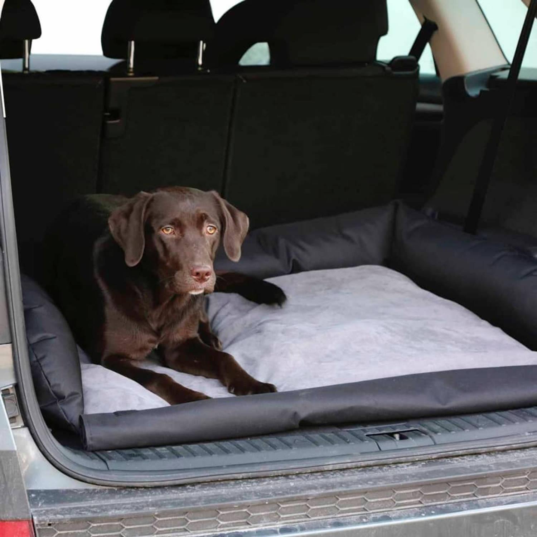 Kerbl Hondenmand Voor In De Auto 95x75x16 Cm Grijs En Zwart 80584 Blokker