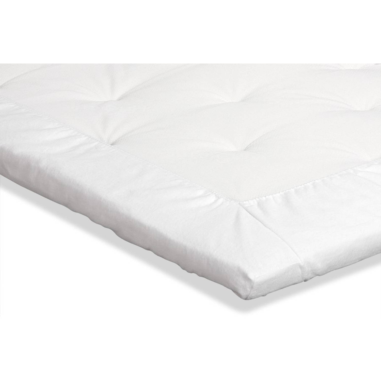 molton Topmatras - Beter Bed Select - 120 x 210/220 - Wit: Katoen
