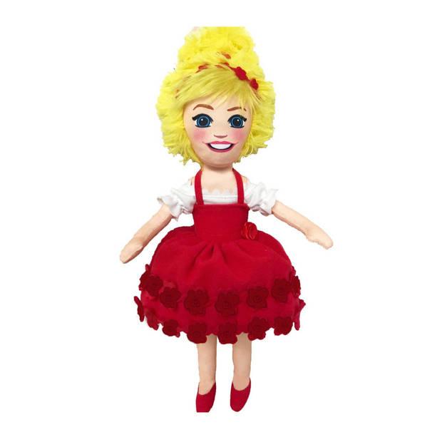 Juf Roos knuffelpop 33 cm rood
