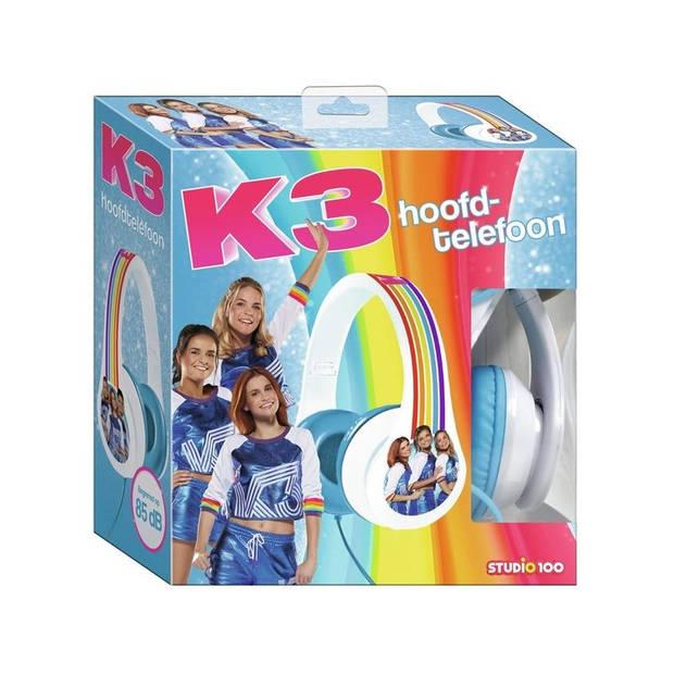 Studio 100 koptelefoon K3 roze wit/blauw