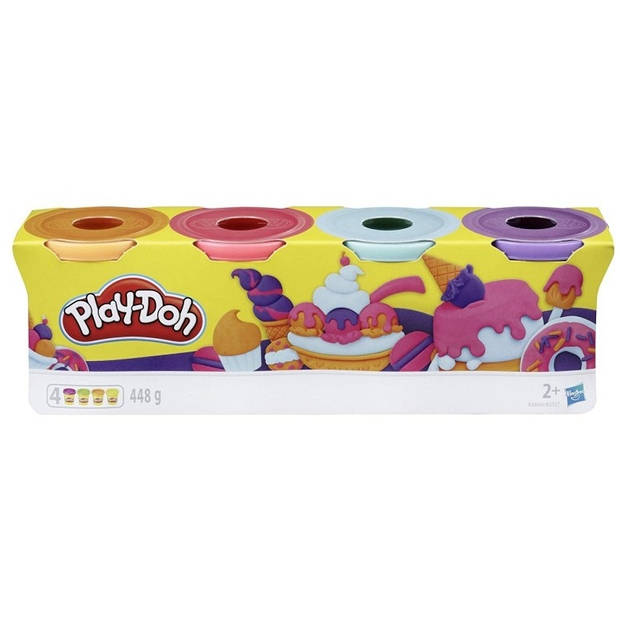 Play-Doh kleiset Zoet 4-delig oranje/rood/blauw/paars