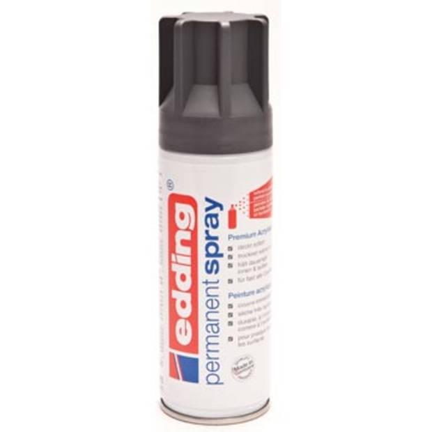 Edding Permanent Spray 5200, 200 ml, antraciet mat