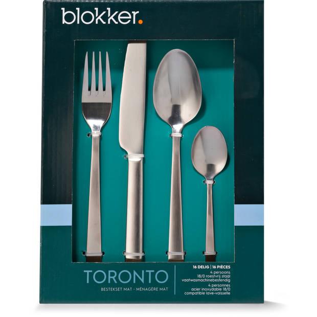 Blokker Toronto bestekset - 16-delig - 4 persoons - mat