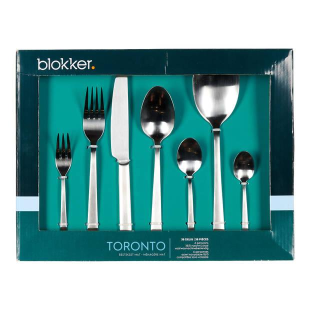 Blokker Toronto bestekset - 38-delig - 6 persoons - mat