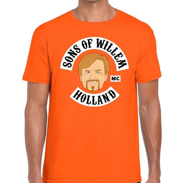 Sons of Willem t-shirt / shirt oranje heren - Koningsdag kleding L