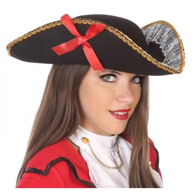 Zwarte piraten driesteek hoed voor volwassenen