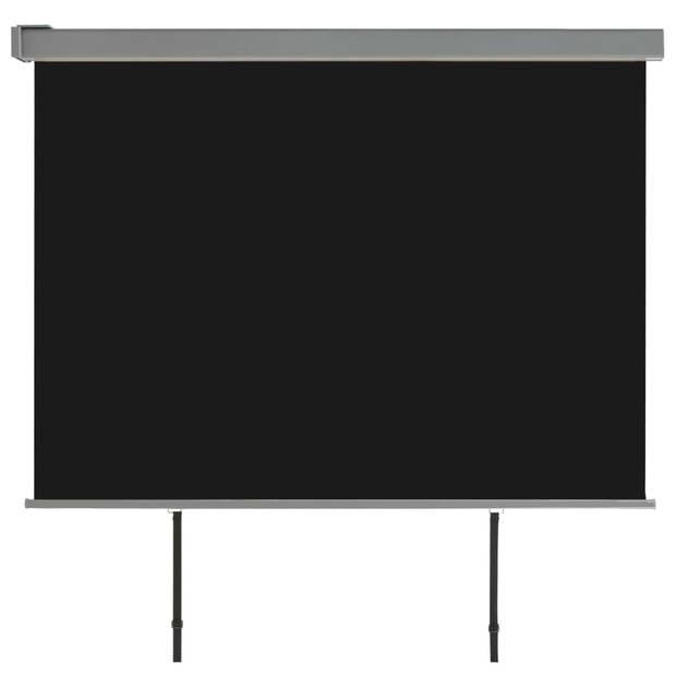 vidaXL Balkon zijluifel multifunctioneel 180x200 cm zwart