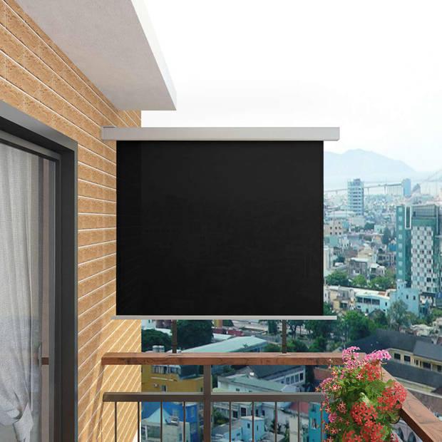 vidaXL Balkon zijluifel multifunctioneel 150x200 cm zwart