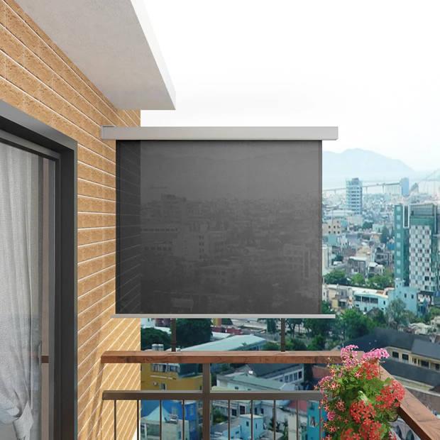 vidaXL Balkon zijluifel multifunctioneel 150x200 cm grijs
