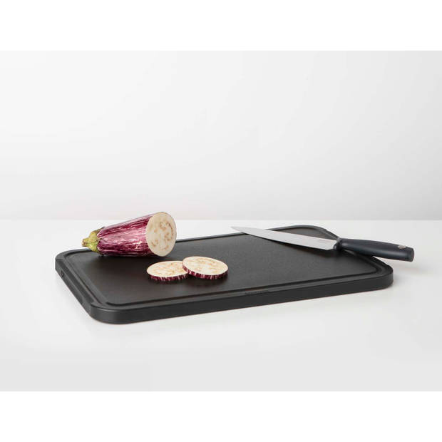 Brabantia Tasty+ snijplank L plus dienblad - Dark Grey