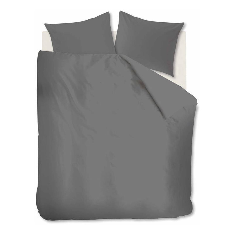 Ambiante Jinne dekbedovertrek - 100% katoen - Lits-jumeaux (240x200/220 cm + 2 slopen) - Anthracite