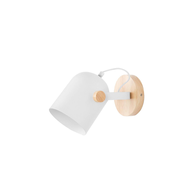 Beliani Nive Muurlamp Wit Metaal 12x15x20.5