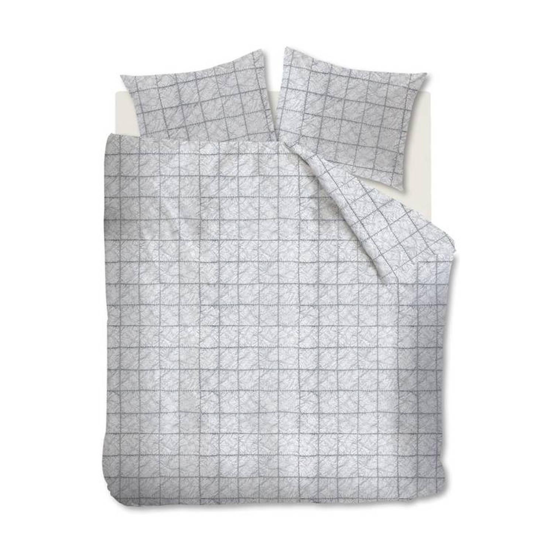 Afbeelding van At Home with Marieke At Home Bleach dekbedovertrek - 100% katoen - 2-persoons (200x200/220 cm + 2 slopen) - Light grey