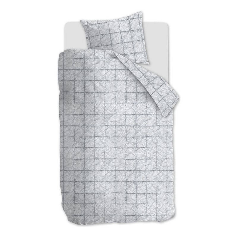 Afbeelding van At Home with Marieke At Home Bleach dekbedovertrek - 100% katoen - 1-persoons (140x200/220 cm + 1 sloop) - Light grey