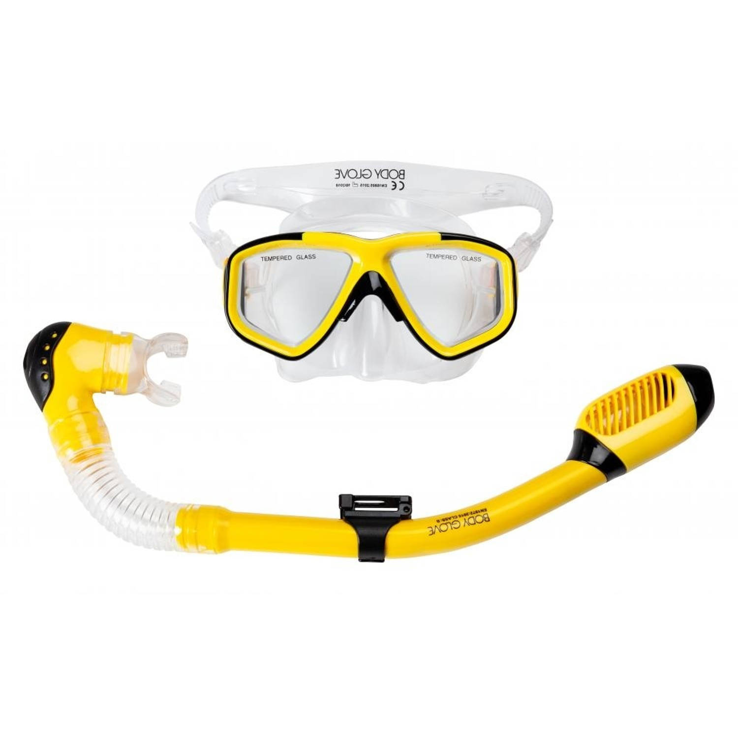 Body Glove snorkelset Tornado Youth junior geel