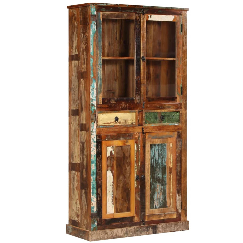 vidaXL Wandkast 95x39x185 cm gerecycled hout