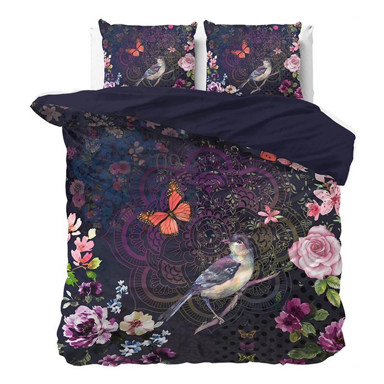 Dreamhouse Bedding Malika dekbedovertrek - 100% katoen-satijn - 2-persoons (200x200/220 cm + 2 slopen) - Purple