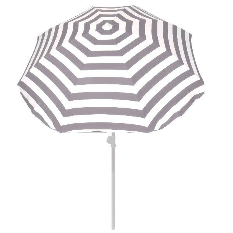 Summertime parasol grijs wit 180 cm