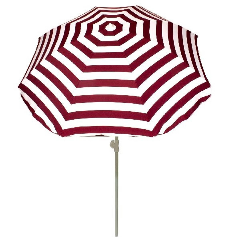 Summertime parasol rood wit 180 cm