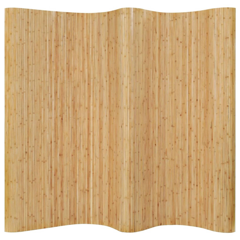 vidaXL Kamerverdeler 250x195 cm bamboe natuurlijk