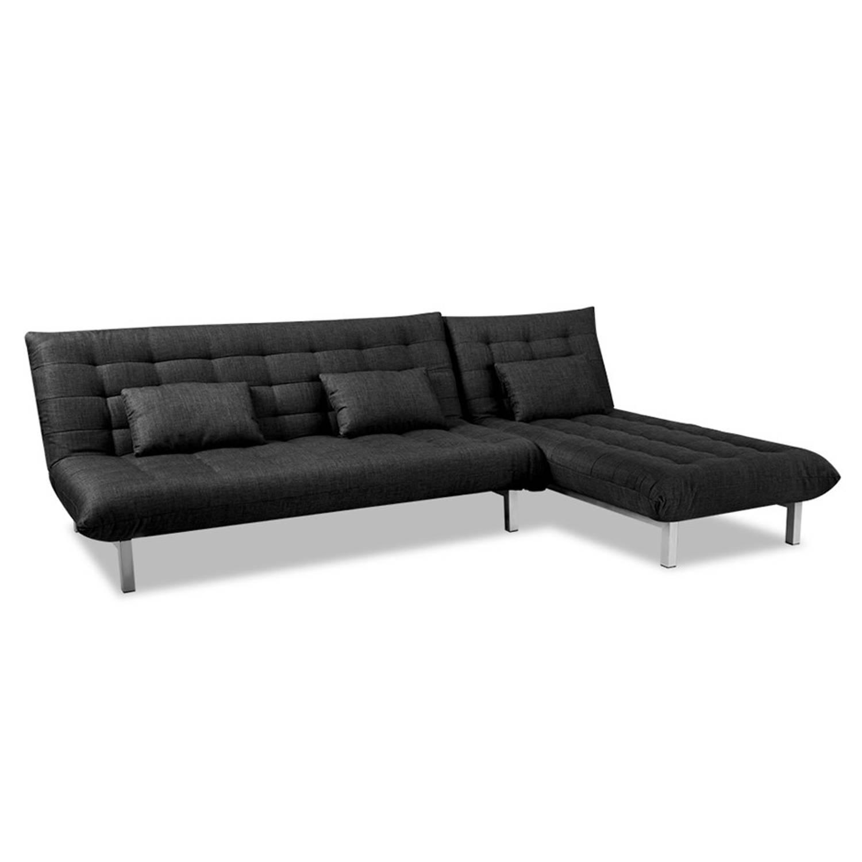 Beter bed Select slaapbank hoek San Francisco - B280xD130xH80 - Zwart