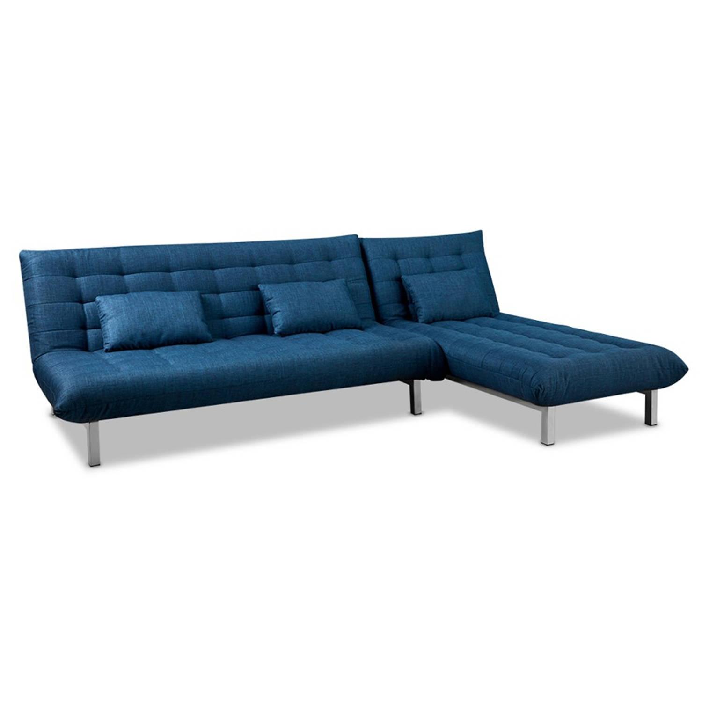 Beter bed Select slaapbank hoek San Francisco - B280xD130xH80 - Blauw