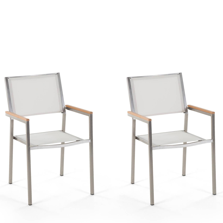 Beliani Grosseto - Tuinstoel Set Van 2-wit-polyester